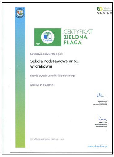 zielona flaga